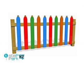 цветной деревянный забор