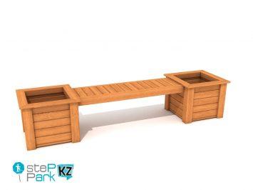 Садовая скамейка клумба