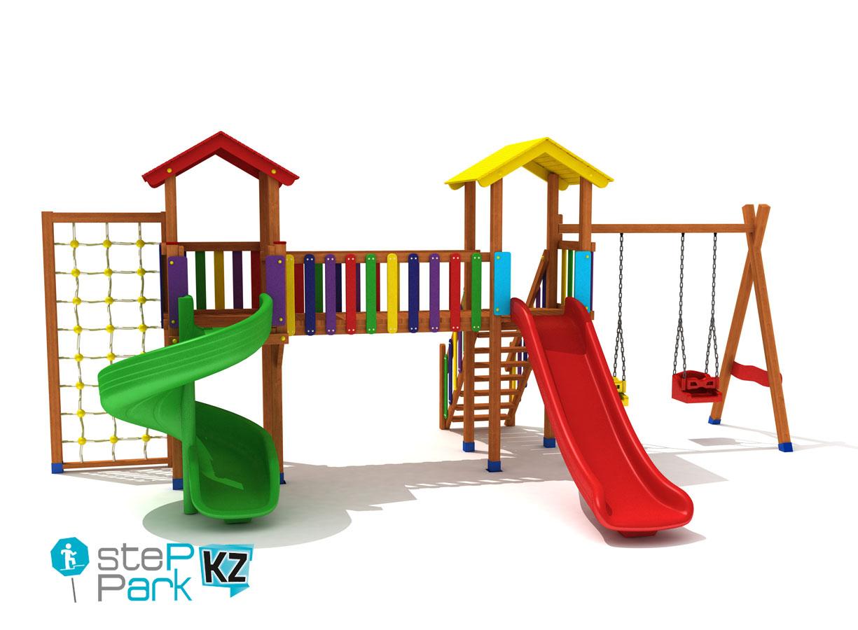 Detskaya ploshchadka Spielplatz Dve bashni