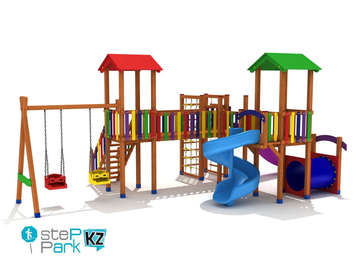 tree tower wooden playground