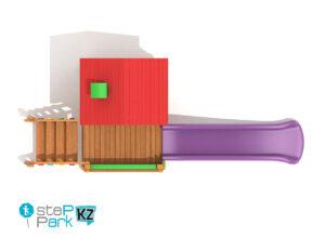 Деревянный игровой домик вид с птичьего полета