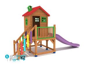 Деревянный игровой домик