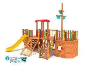 Деревянный корабль детский игровой парк