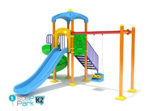 Детский игровой комплекс со спиральной горкой
