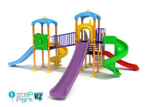 Детский игровой комплекс с четырьмя горками