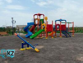 Обустройство детской игровой зоны в городе Туркестан