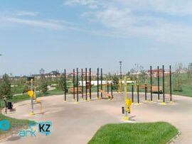 Спортивные площадки появились во многих дворах и парках Туркестана и Шымкента